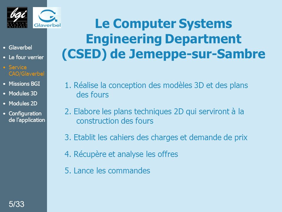 Le Computer Systems Engineering Department (CSED) de Jemeppe-sur-Sambre