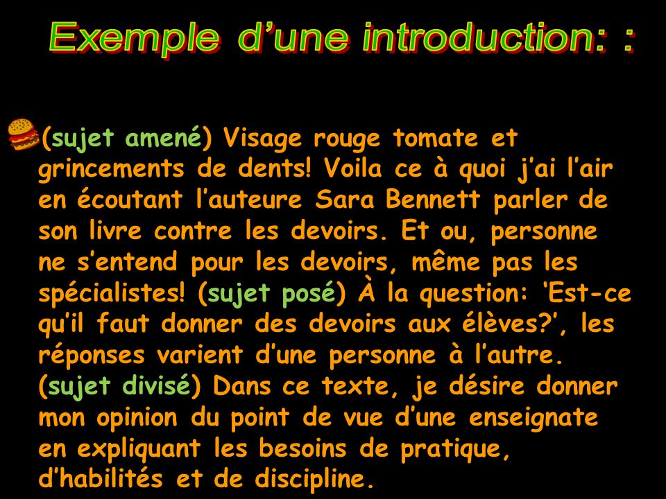 Exemple d'une introduction: :