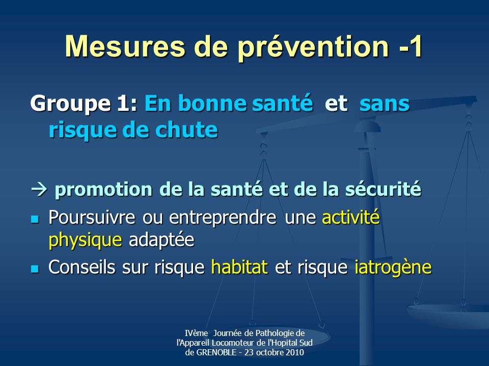 Mesures de prévention -1