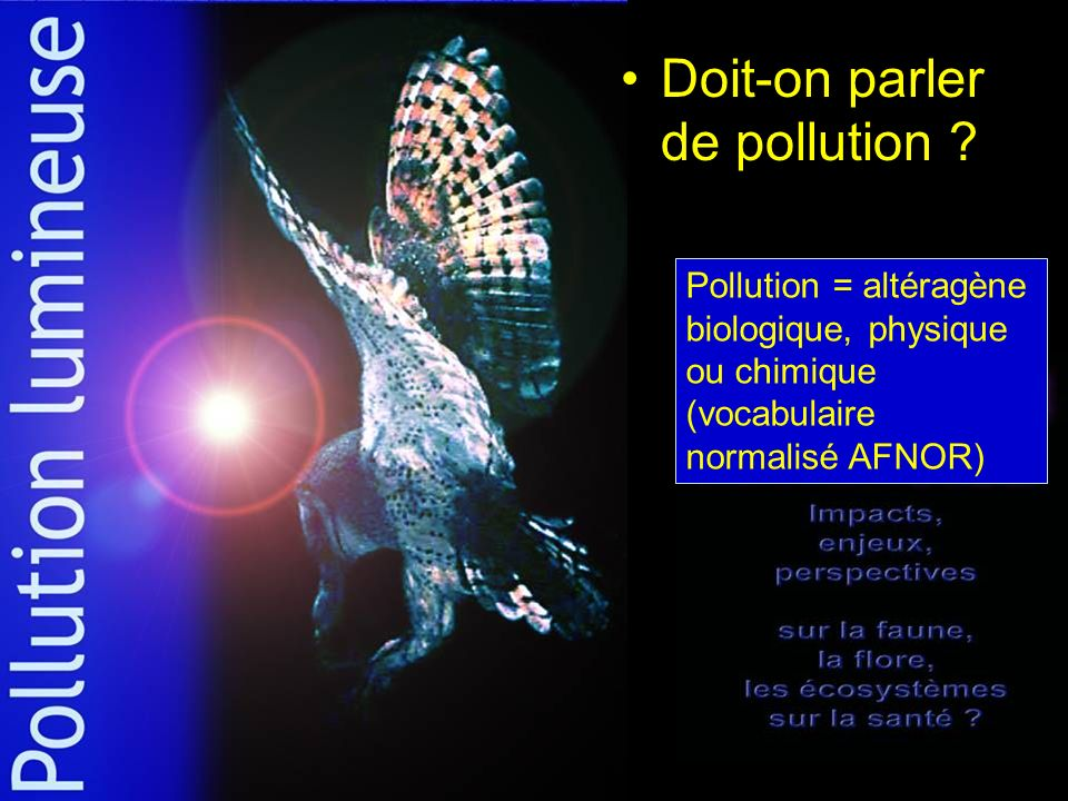 Doit-on parler de pollution