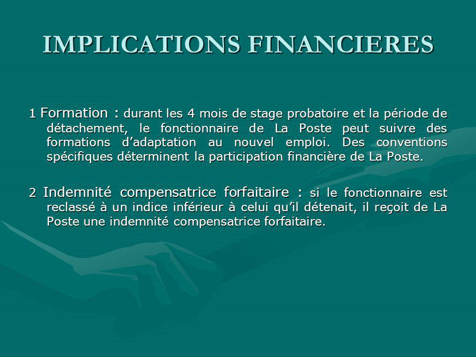 IMPLICATIONS FINANCIERES