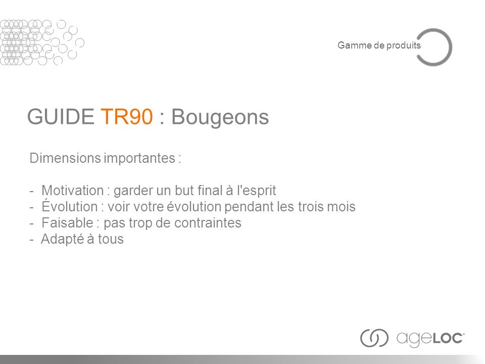 GUIDE TR90 : Bougeons Dimensions importantes :
