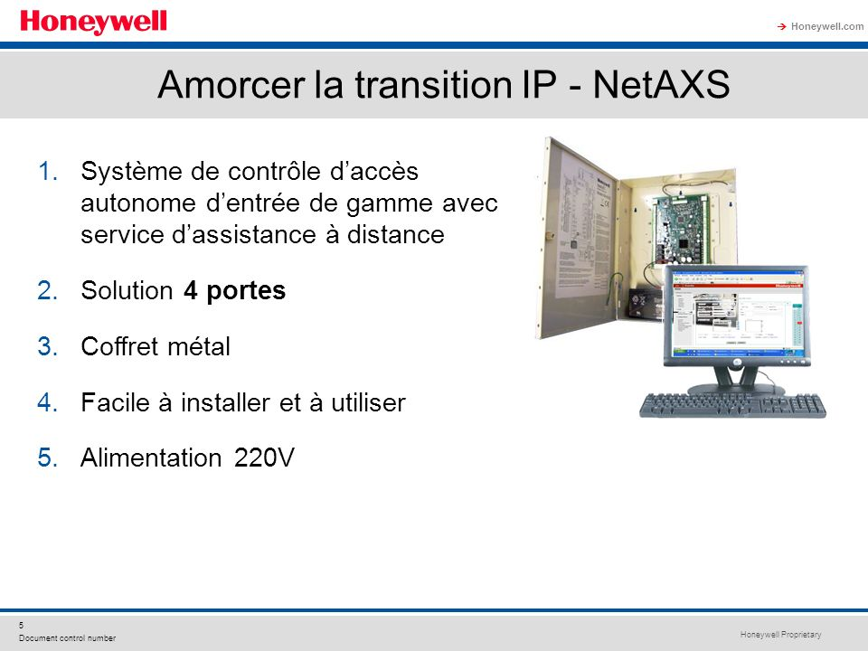 Amorcer la transition IP - NetAXS