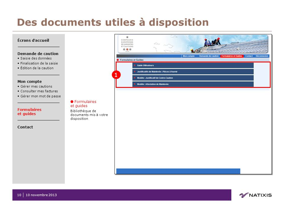 Des documents utiles à disposition