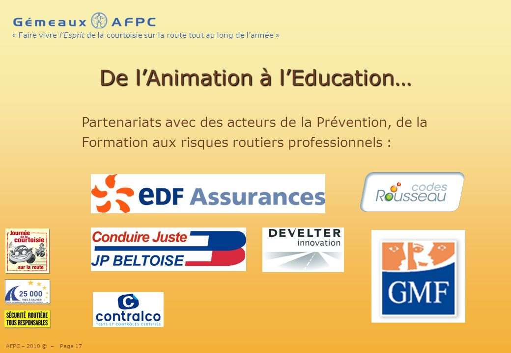 De l'Animation à l'Education…