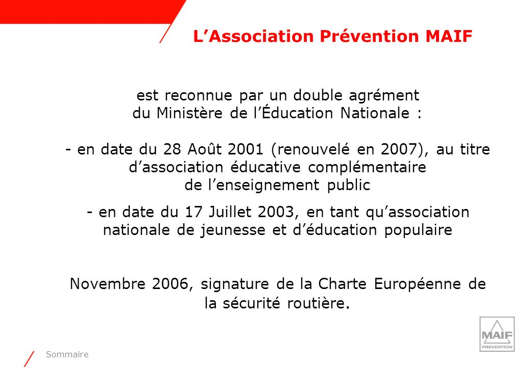 L'Association Prévention MAIF