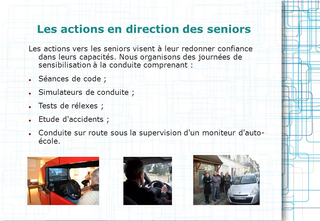 Les actions en direction des seniors