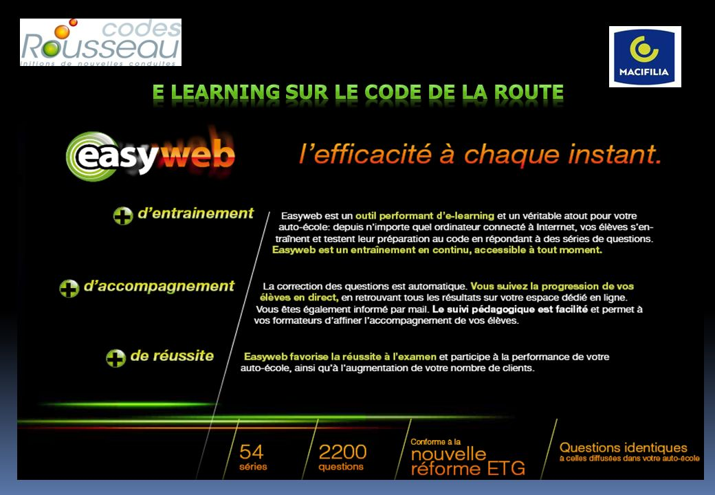 e LEARNING sur le code de la route