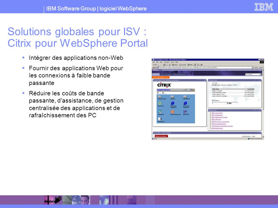 Solutions globales pour ISV : Citrix pour WebSphere Portal
