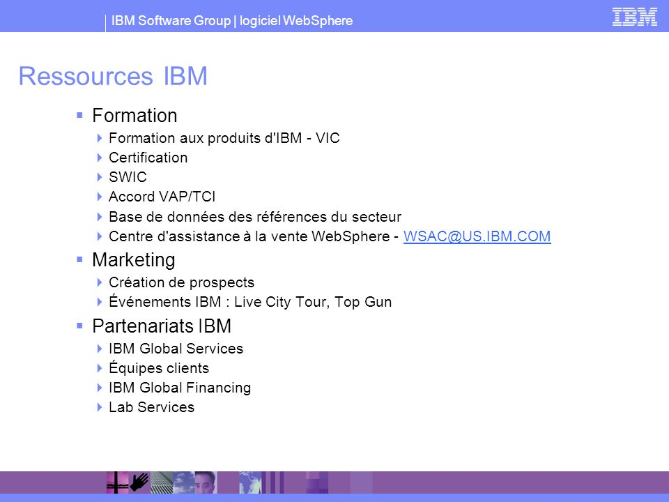 Ressources IBM Formation Marketing Partenariats IBM
