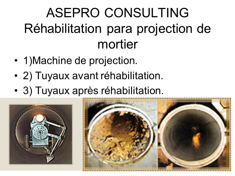 ASEPRO CONSULTING Réhabilitation para projection de mortier