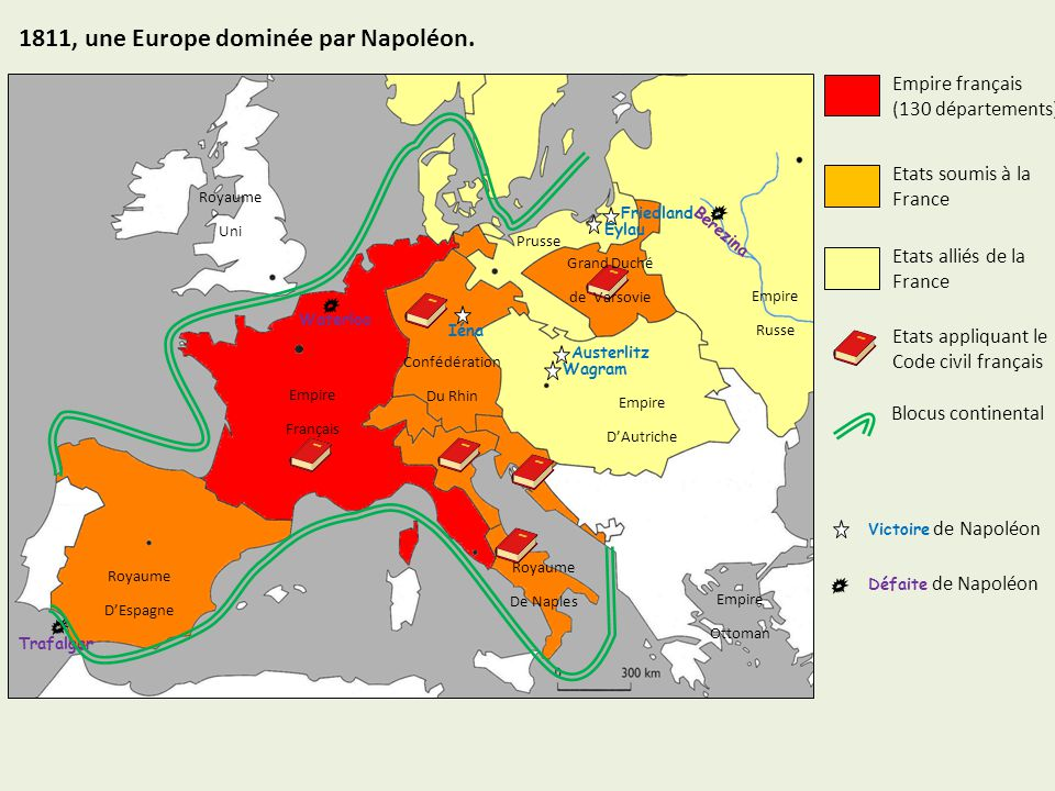 Carte De Leurope Napoleonienne En 1811.1811 Une Europe Dominee Par Napoleon Ppt Video Online