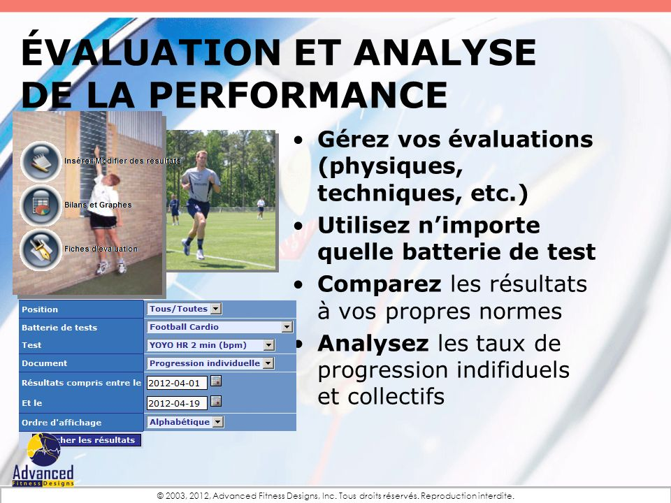 ÉVALUATION et Analyse de la performance