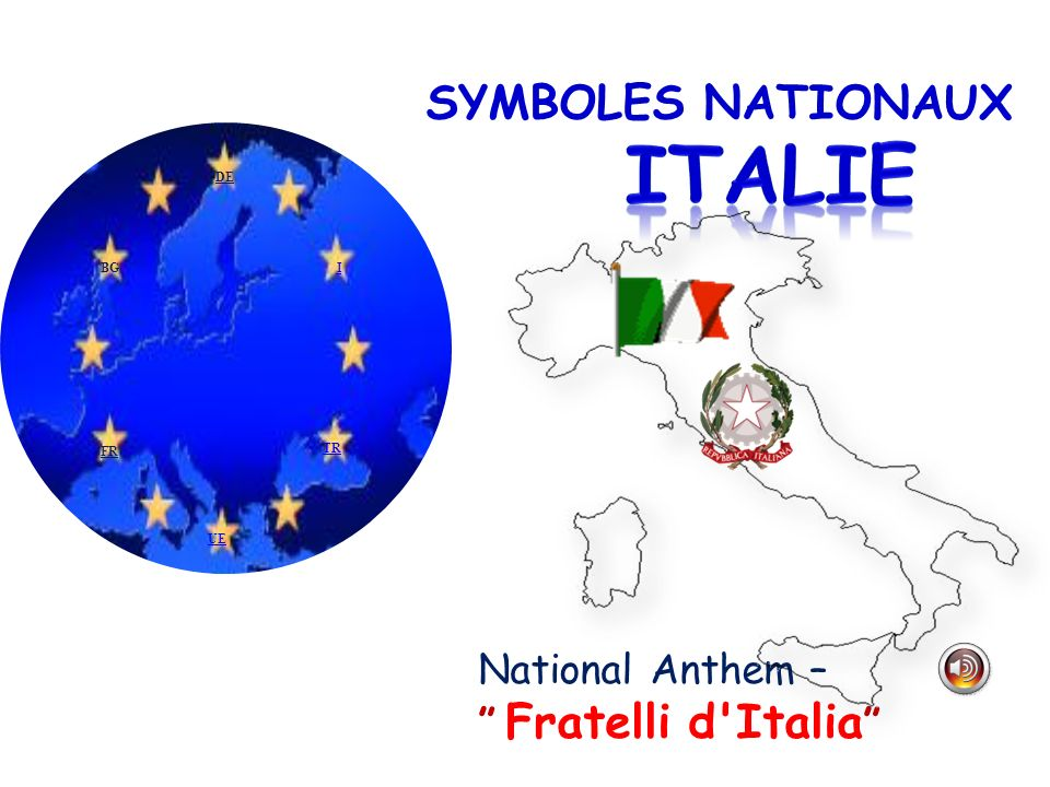 ITALIE SYMBOLES NATIONAUX National Anthem – Fratelli d Italia