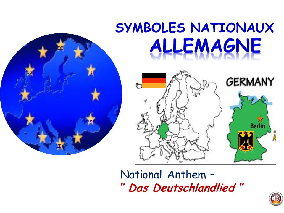 ALLEMAGNE SYMBOLES NATIONAUX National Anthem – Das Deutschlandlied