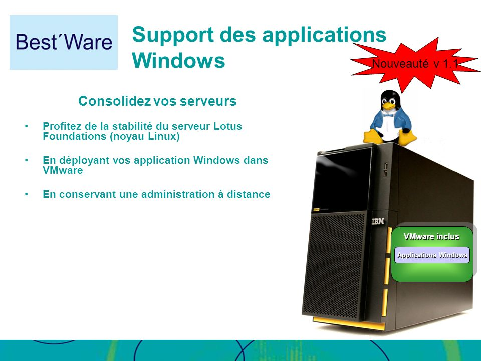 Support des applications Windows