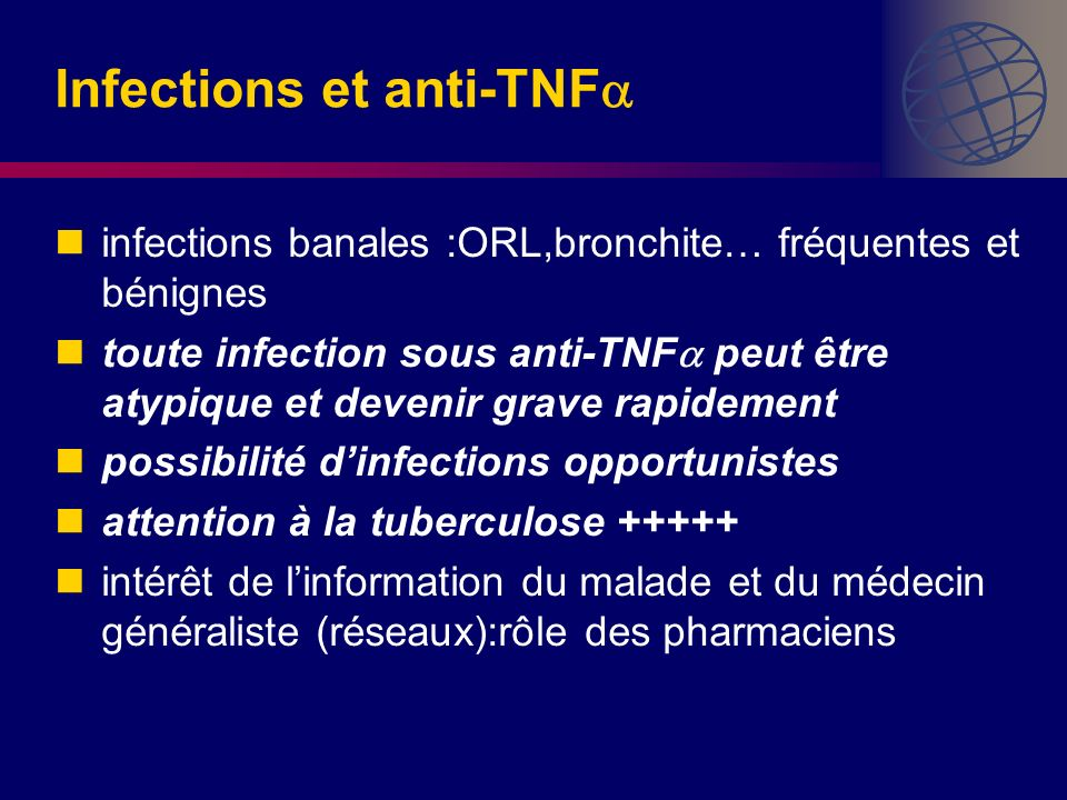 Infections et anti-TNF