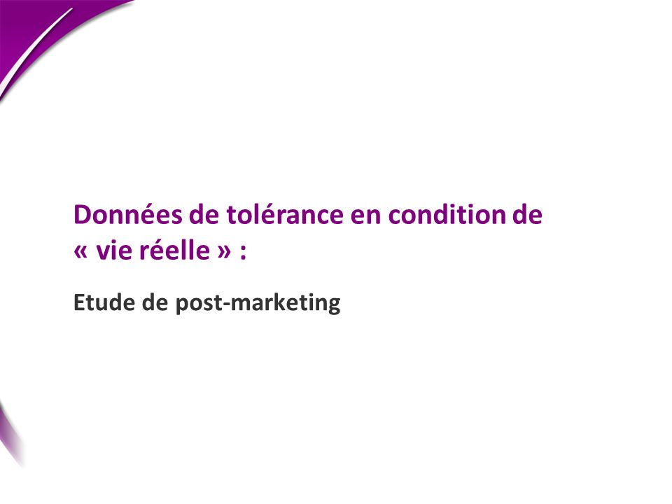 Etude de post-marketing