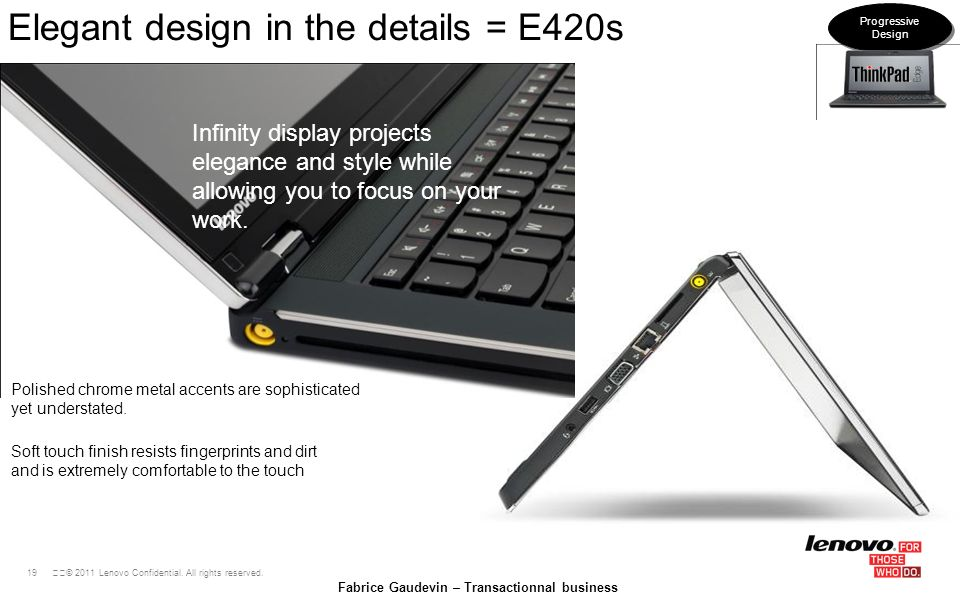 Elegant design in the details = E420s