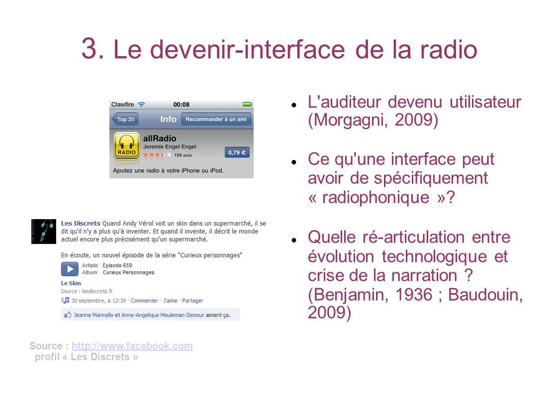 3. Le devenir-interface de la radio