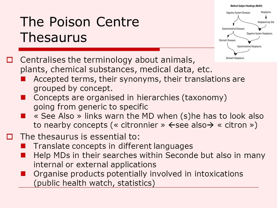 The Poison Centre Thesaurus
