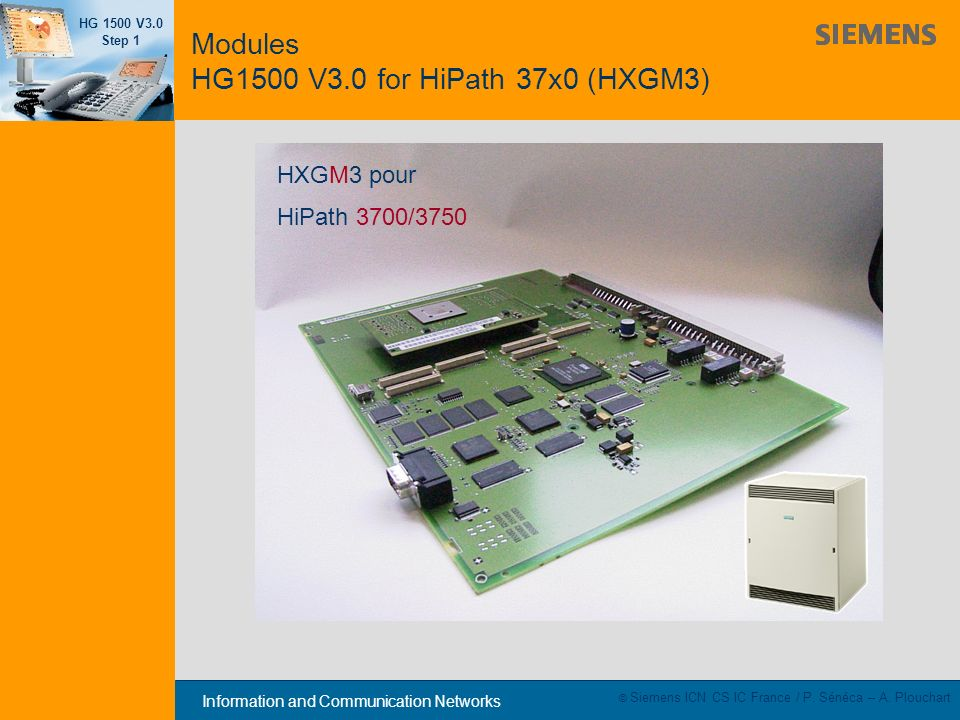 Modules HG1500 V3.0 for HiPath 37x0 (HXGM3)