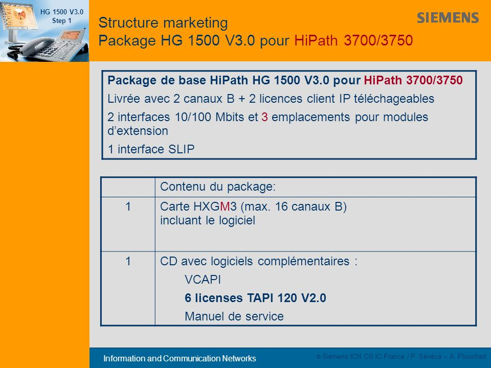 Structure marketing Package HG 1500 V3.0 pour HiPath 3700/3750