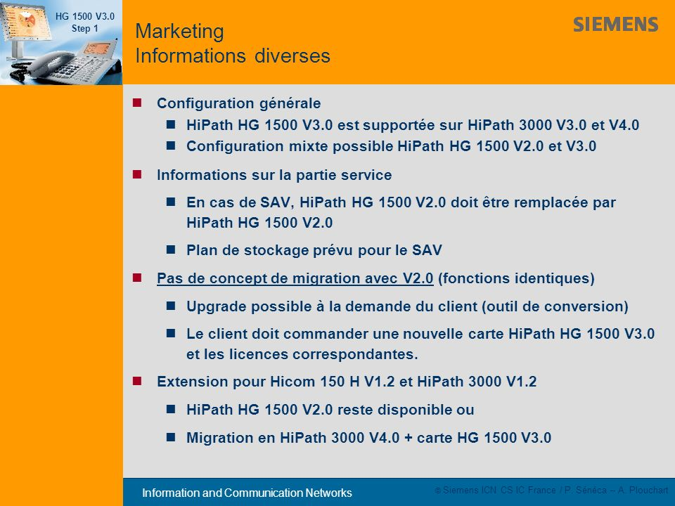 Marketing Informations diverses