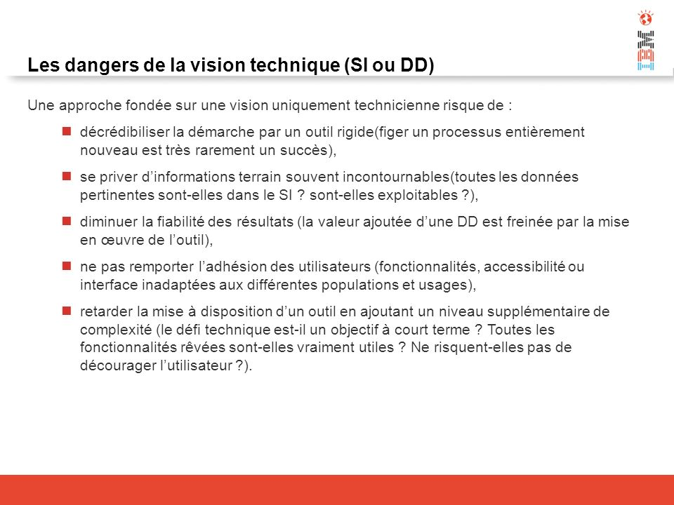 Les dangers de la vision technique (SI ou DD)