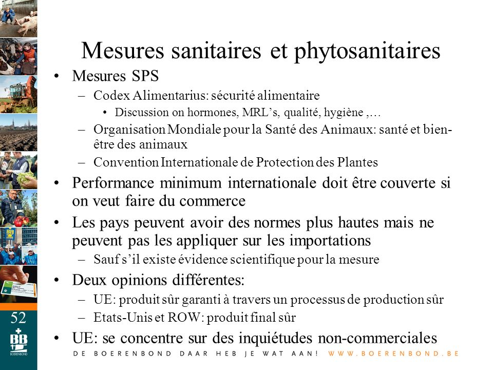 Mesures sanitaires et phytosanitaires