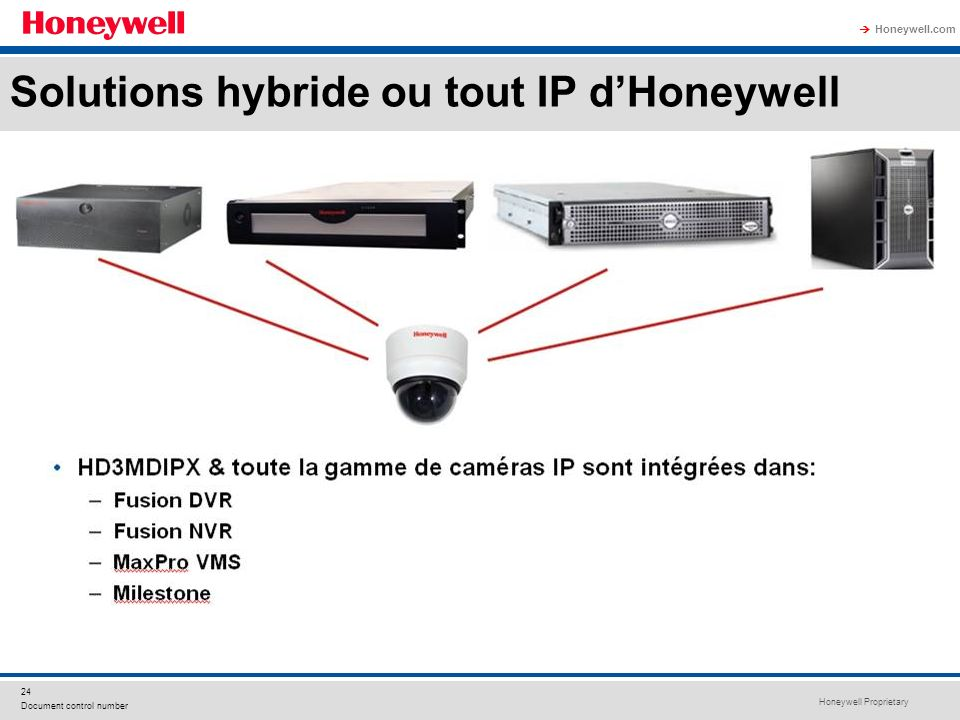 Solutions hybride ou tout IP d'Honeywell