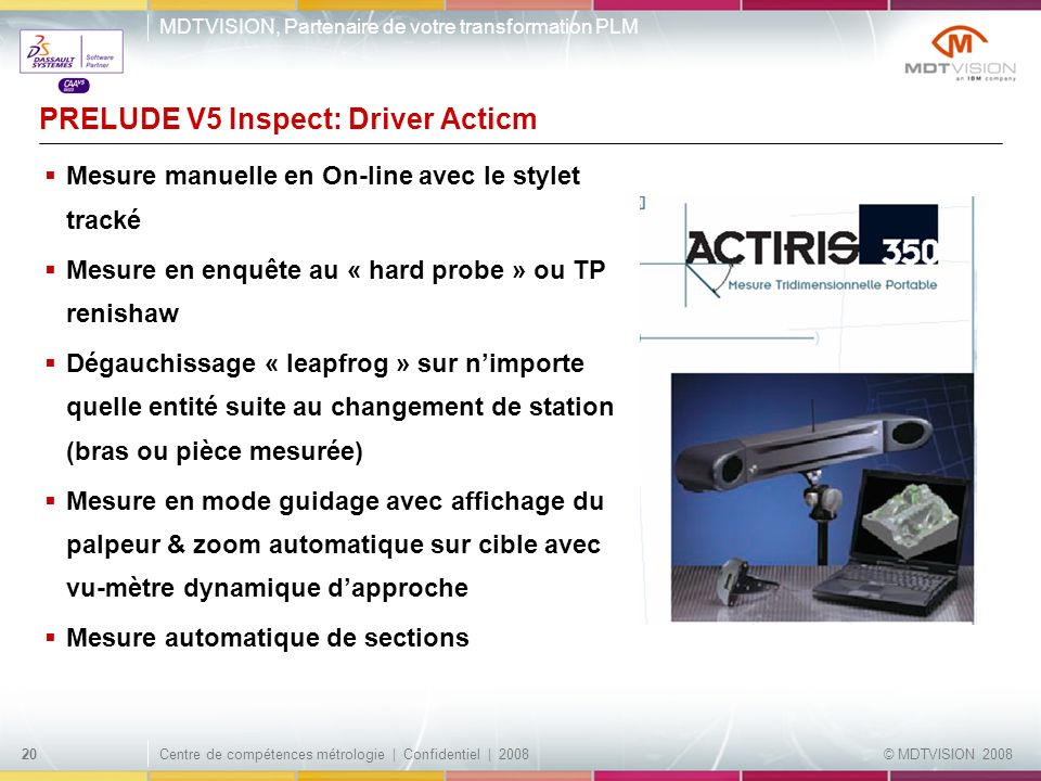 PRELUDE V5 Inspect: Driver Acticm