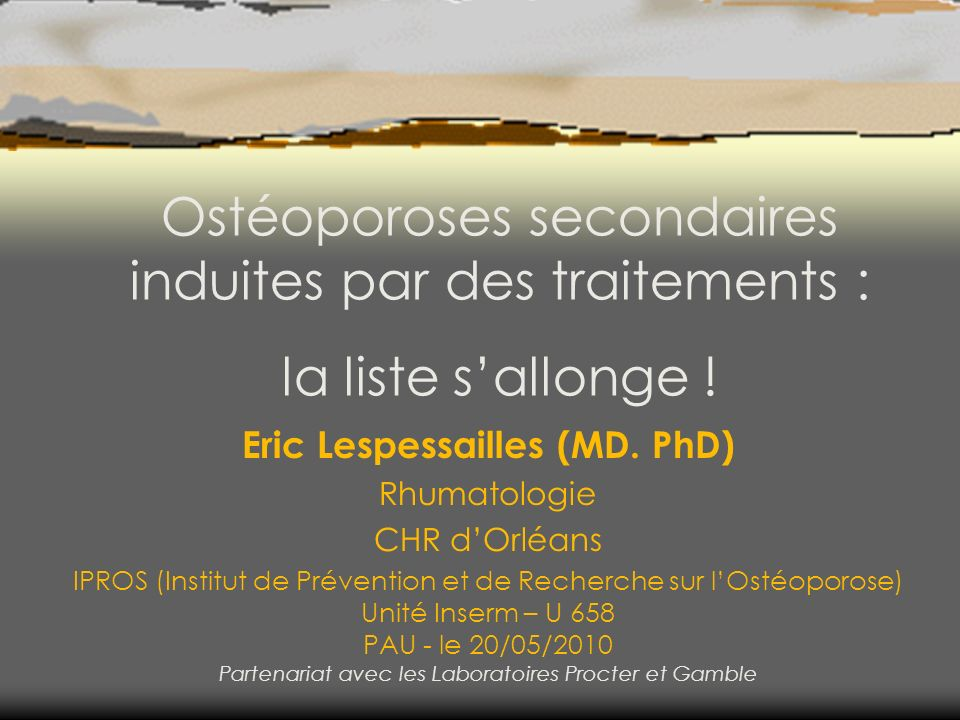 Eric Lespessailles (MD. PhD)