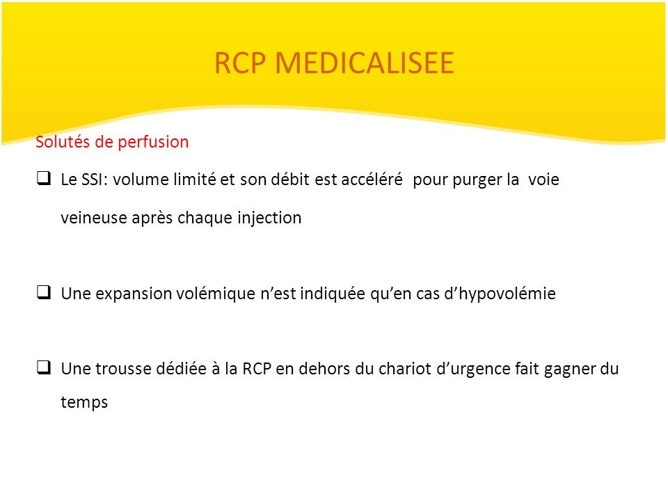 RCP MEDICALISEE Solutés de perfusion