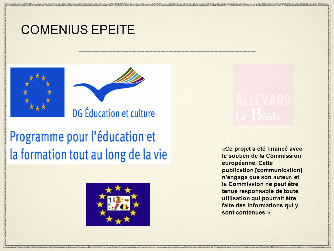 COMENIUS EPEITE