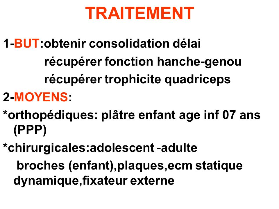 TRAITEMENT 1-BUT:obtenir consolidation délai