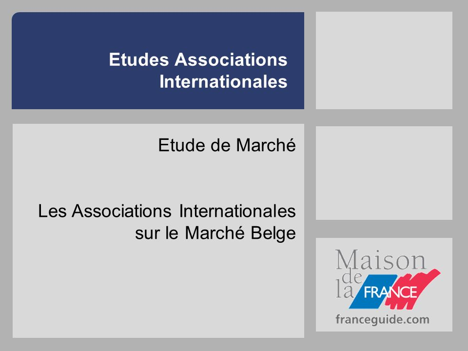 Etudes Associations Internationales