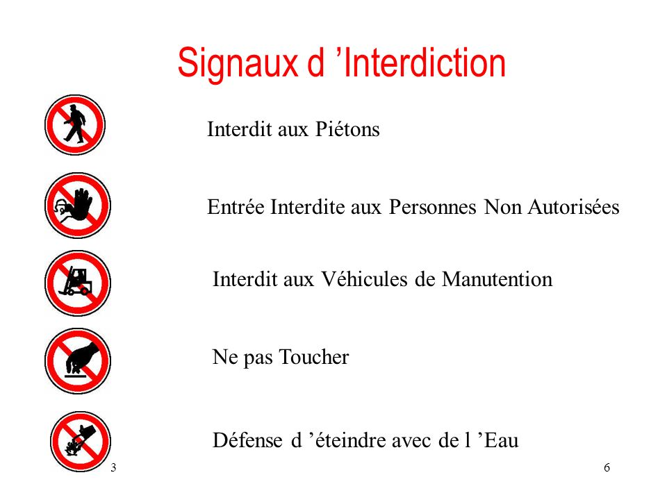 Signaux d 'Interdiction