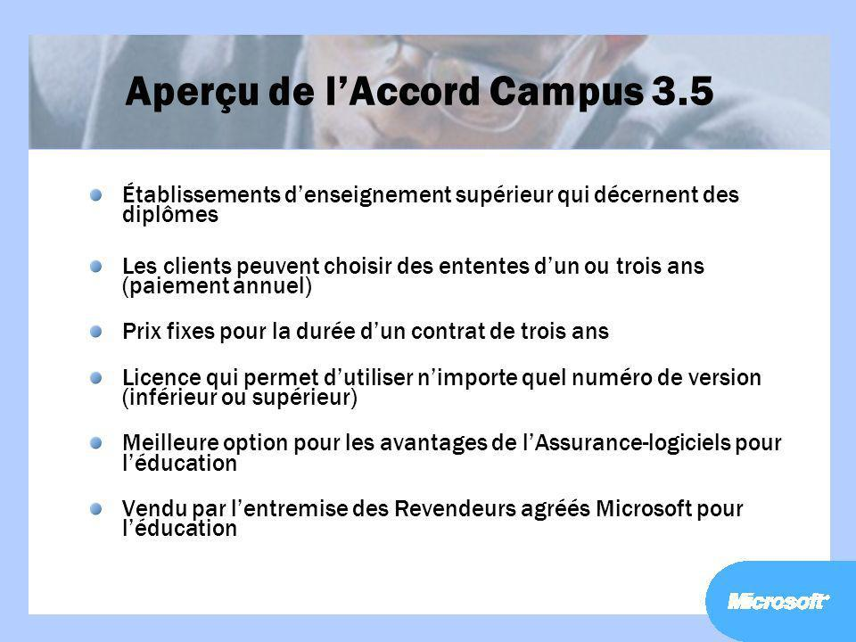 Aperçu de l'Accord Campus 3.5