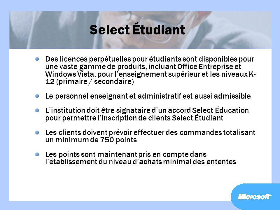 Select Étudiant