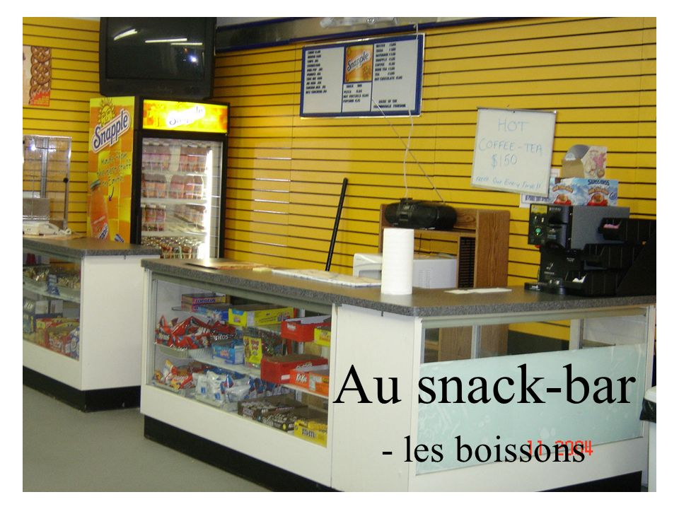 Au snack-bar - les boissons