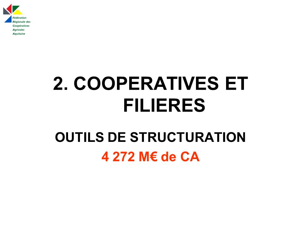 2. COOPERATIVES ET FILIERES