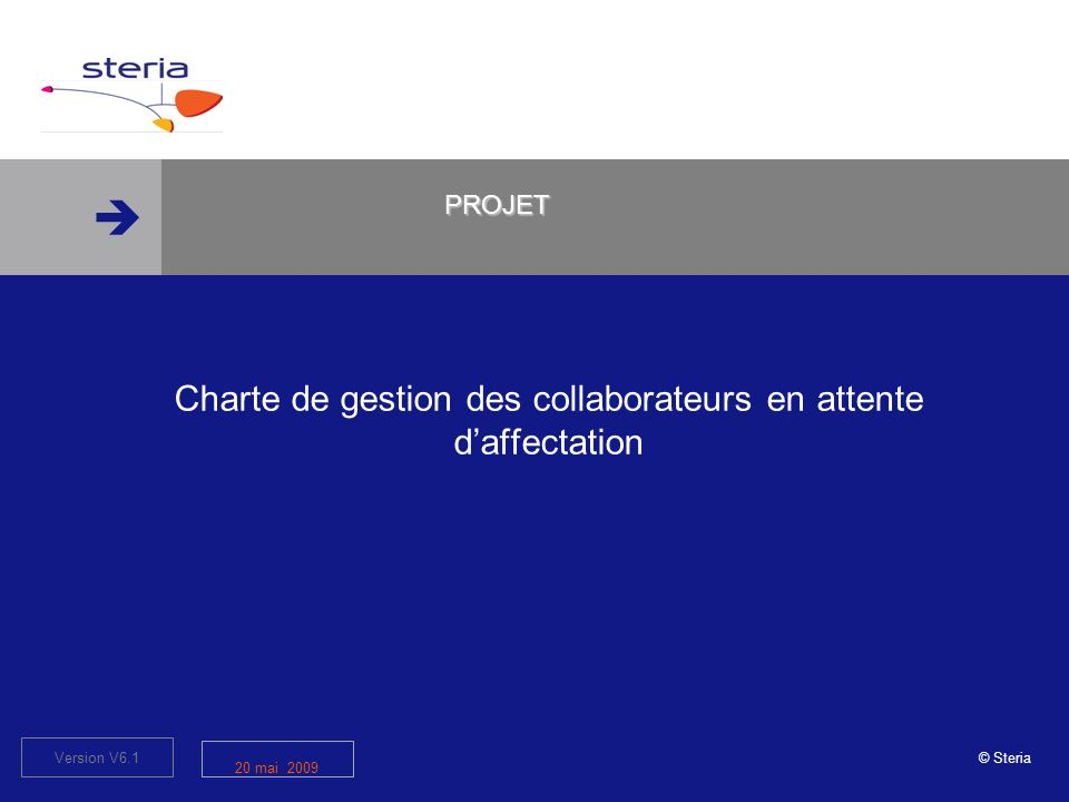 Charte de gestion des collaborateurs en attente d'affectation