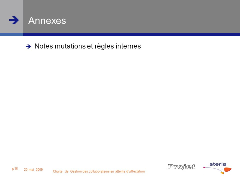 Annexes Notes mutations et règles internes