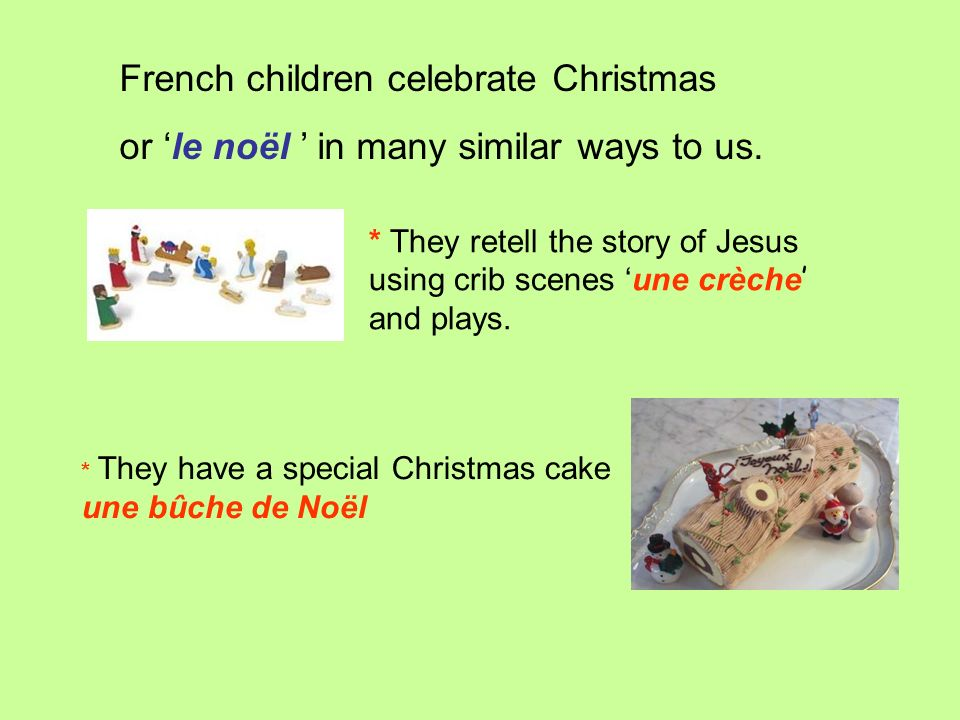 French children celebrate Christmas