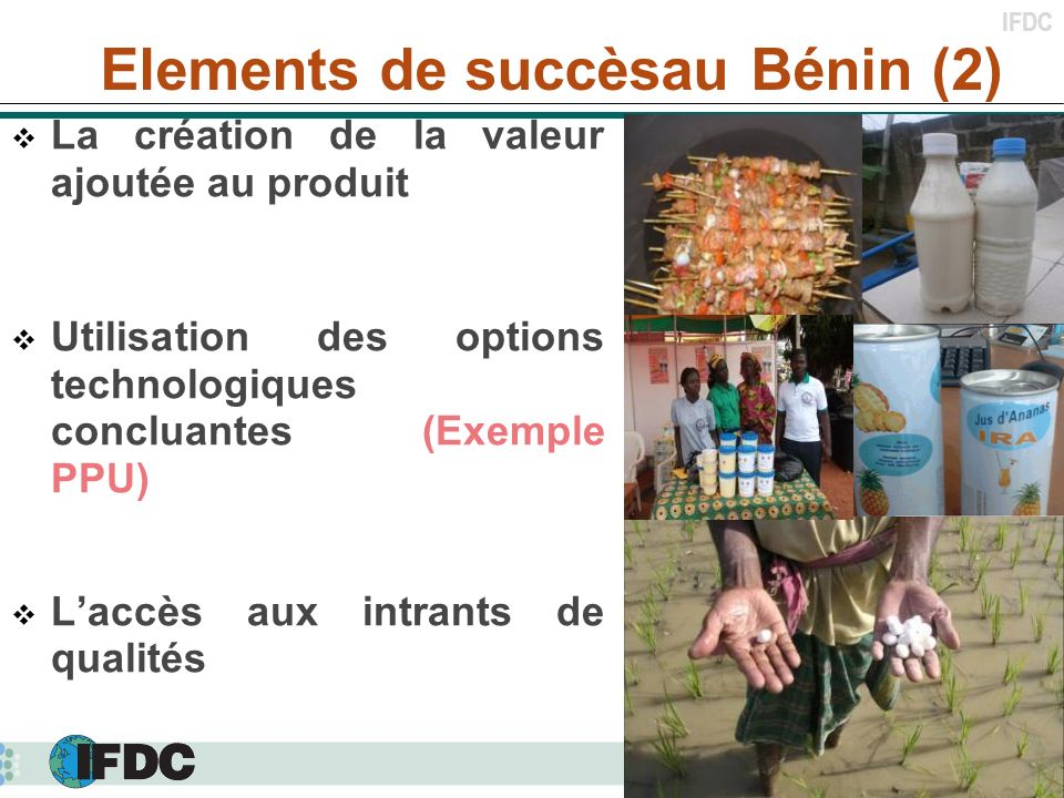 Elements de succèsau Bénin (2)