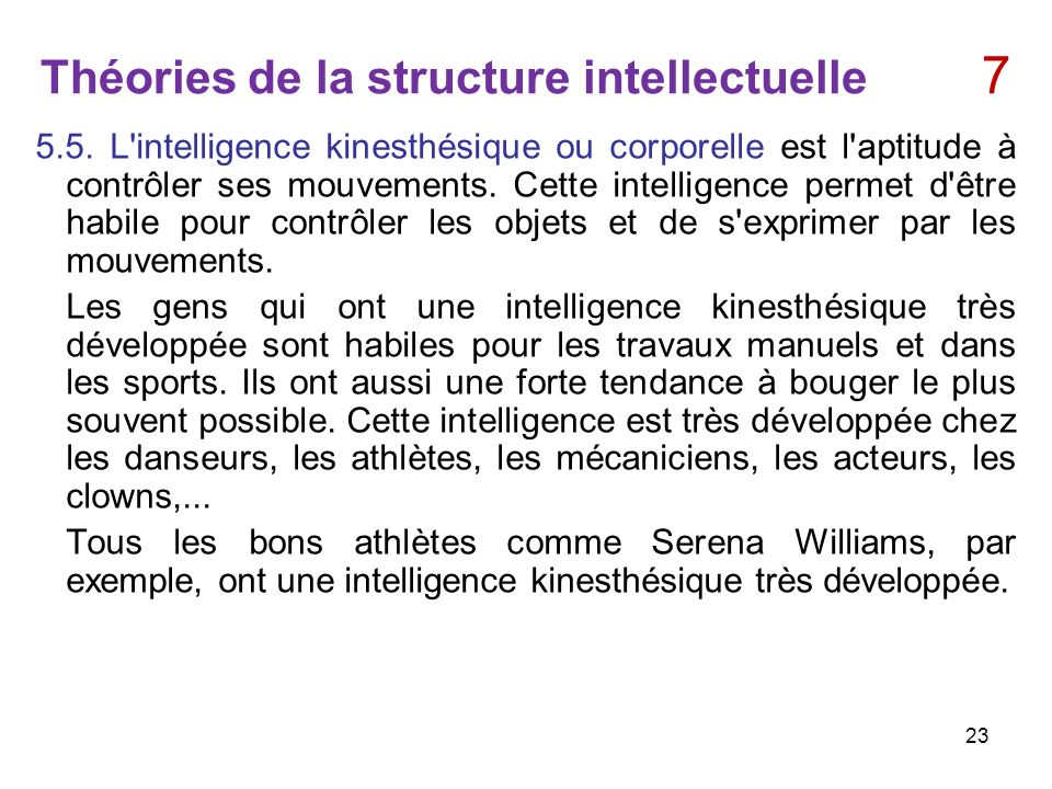 Théories de la structure intellectuelle 7