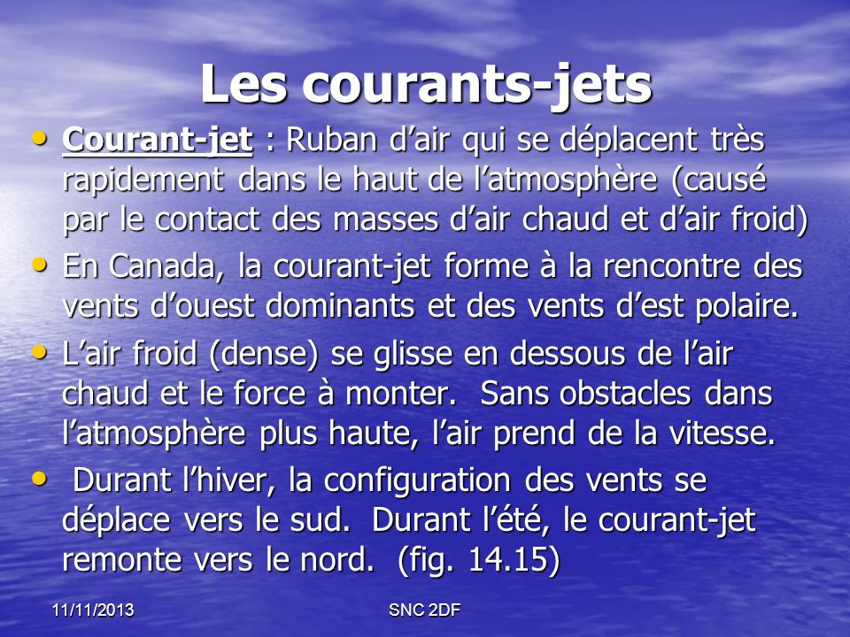Les courants-jets