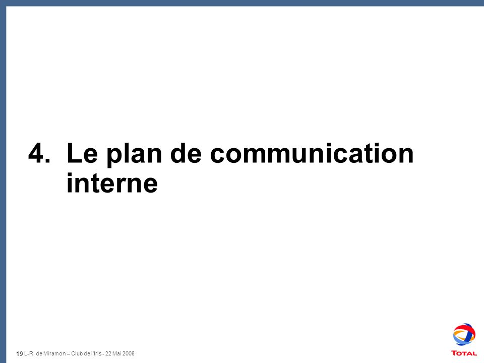 4. Le plan de communication interne