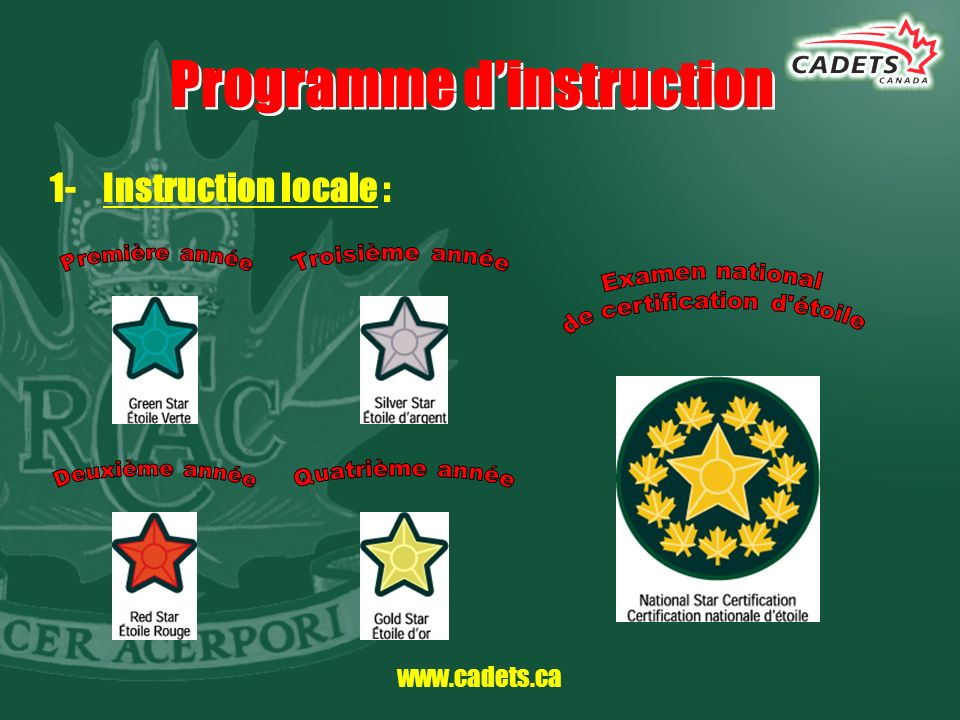 Programme d'instruction